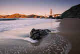 Tide Design at Marshall Beach, Golden Gate Bridge, California Photographic Print by Vincent James