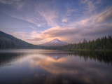 Cloudscape Reflection at Trillium Lake, Oregon Metal Print by Vincent James