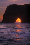 Sunset Seascape at Elephant Rock, Mendocino Coast California Photographic Print by Vincent James