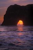 Sunset Seascape at Elephant Rock, Mendocino Coast California Photographic Print by Vincent James