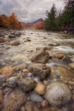 Autumn Inside the Pemigewasset River, New Hampshire Photographic Print by Vincent James