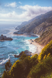 Misty Big Sur Coastline, California Photographic Print by Vincent James