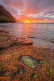 Sunset at Na Pali Coast, Kauai Hawaii Photographic Print by Vincent James