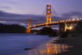 Blue Hour at Golden Gate Bridge, San Francisco California Photographic Print by Vincent James