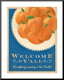 Welcome Peaches Mounted Print by  Anderson Design Group