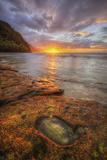 Sunset at Ke'e Beach, Na Pali Coast, Kauai Hawaii Photographic Print by Vincent James