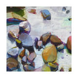 River Rocks Giclee Print by Sharon Paster
