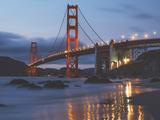 Early Evening at Golden Gate Bridge, San Francisco California Posters por Vincent James