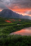 Sunset Landscape at Menehune Fishpond, Kauai Hawaii Photographic Print by Vincent James