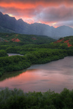 Sunset Color at Menehune Fishpond, Kauai Hawaii Photographic Print by Vincent James