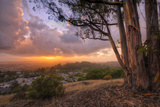 Stormy Sunset from the Oakland Hills, California Photographic Print by Vincent James