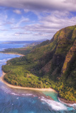 View of Hanalei from Na Pali Coast, Kauai Hawaii Photographic Print by Vincent James