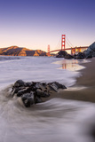 Morning Beachscape at Golden Gate Bridge, California Photographic Print by Vincent James