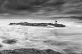 Blustery Coastal Seascape with Photographer, California Photographic Print by Vincent James