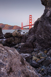 View From The Rocks , Golden Gate Bridge, San Francisco Photographic Print by Vincent James