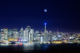 San Francisco Holiday Cityscape and Crescent Moon Photographic Print by Vincent James