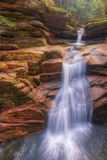 Sabbaday Falls in Autumn, White Mountain New Hampshire Photographic Print by Vincent James