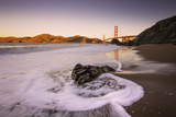 Water Flow at Morning Light, Golden Gate Bridge, California Photographic Print by Vincent James