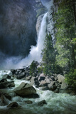 Misty Lower Yosemite Falls, California Photographic Print by Vincent James