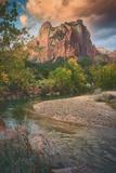Autumn Riverside, Zion Canyon, Utah Photographic Print by Vincent James
