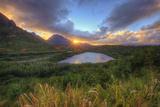 Sunset Star at Menehune Fishpond, Kauai Hawaii Photographic Print by Vincent James