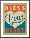 Bless Your Heart Mounted Print by  Anderson Design Group