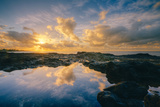 Morning Sun and Cloudscape Reflections, Kauai Photographic Print by Vincent James