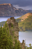 Late Afternoon Light at Crater's Edge, Crater Lake Oregon Photographic Print by Vincent James