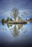 Morning Reflections at Lake Merritt, Oakland California Photographic Print by Vincent James