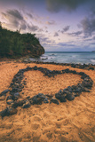 Rock Heart Beachscape, Kauai Hawaii Photographic Print by Vincent James