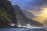 Scene at Island's Edge, Na Pali Coast, Kauai Hawaii Photographic Print by Vincent James