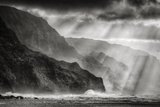 Sacred Light and Mist at Na Pali Coast, Kauai Hawaii Photographic Print by Vincent James