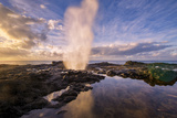 Morning Light and Spouting Horn, Kauai Hawaii Photographic Print by Vincent James