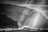 Sacred Light and Waves at the Na Pali Coast, Kauai Hawaii Photographic Print by Vincent James