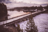 Chilly Morning at Fishing Bridge, Yellowstone Wyoming Photographic Print by Vincent James