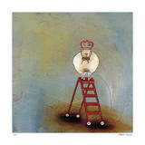 Royal Sheep on Ladder Giclee Print by Stacy Dynan