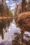 Early Winter Reflections on Merced River, Yosemite California Photographic Print by Vincent James
