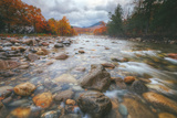 Autumn River Flow at Lincoln, New Hampshire Photographic Print by Vincent James