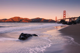 First Light Beachscape at Golden Gate Bridge, California Photographic Print by Vincent James
