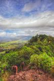 Hiking the Sleeping Giant, Kauai Hawaii Photographic Print by Vincent James