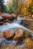 Autumn Stream in the White Mountains, New Hampshire Photographic Print by Vincent James