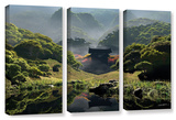 Cynthia Decker's Temple Of Perpetual Autumn, 3 Piece Gallery-Wrapped Canvas Set Gallery Wrapped Canvas Set by Cynthia Decker