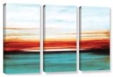 Jolina Anthony's Sunset, 3 Piece Gallery-Wrapped Canvas Set Poster by Jolina Anthony