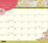 Where Love Grows Magnetic - 2016 Monthly Calendar Pad Calendars