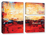 Jolina Anthony's Sunset, 3 Piece Gallery-Wrapped Canvas Flag Set Gallery Wrapped Canvas Set by Jolina Anthony