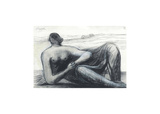 Draped Reclining Figure in a Landscape, c1973/77 Premium Giclee Print by Henry Spencer Moore