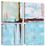 Jolina Anthony's Winterpane, 4 Piece Gallery-Wrapped Canvas Square Set Prints by Jolina Anthony