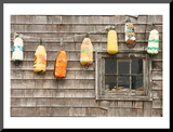 Colorful Buoys in Peggys Cove Mounted Print