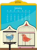 Birdies - 2016 Easel Calendar Calendars