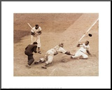 Jackie Robinson Stealing Home, May 18, 1952 Mounted Print by Nat Fein